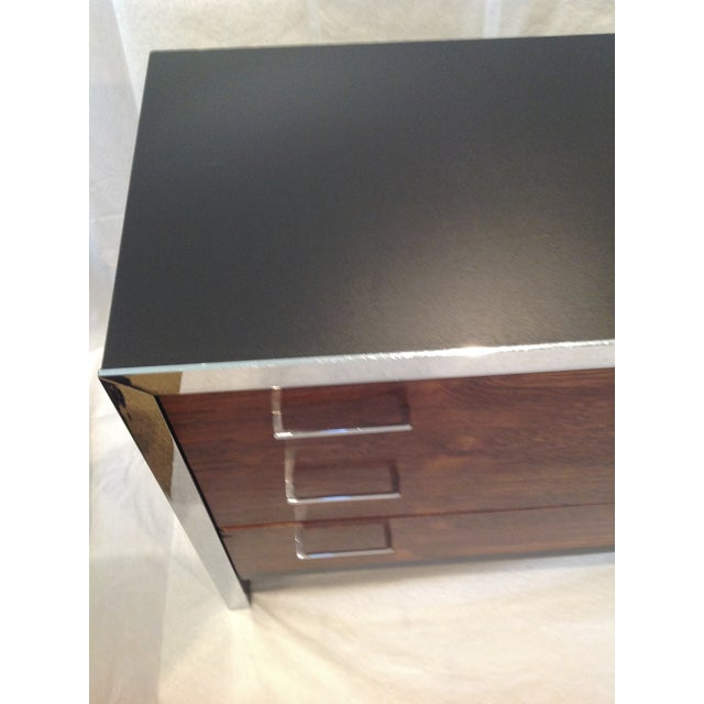 Milo Baughman-Style Rosewood & Chrome Dresser - Image 5 of 10