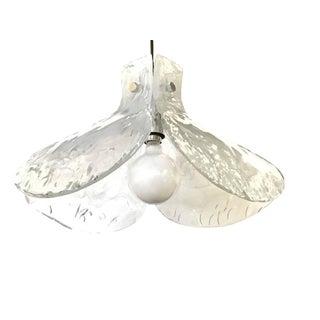"""Murano Glass """"Petalo"""" Flower Shape Pendant Chandelier by Mazzega"""