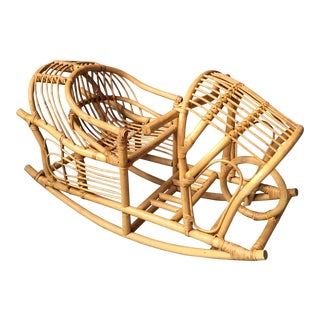 Vintage Child's Rattan Rocking Toy