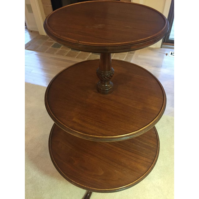 3-Tiered Butler Tripod Table - Image 4 of 8