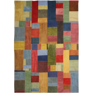 "Hand Knotted Antique Patchwork Kilim - 9'9"" X 7'7"""