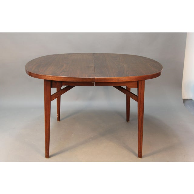 Jens risom floating dining room table expandable chairish for Floating dining table