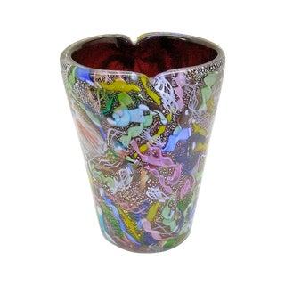 Anzolo Fuga Bisanzio Vase Avem Murano Italian Venetian Glass Mid-Century Modern MCM End of Day