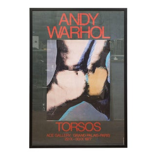 1977 Torsos Framed Poster by Andy Warhol