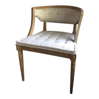 Modern Linen Accent Chair