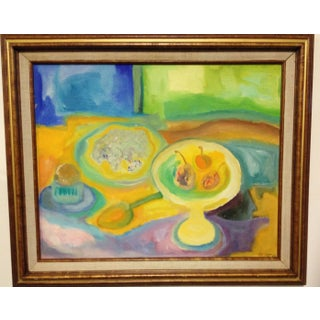 Mid Century Modern Still Life Abstract Painting