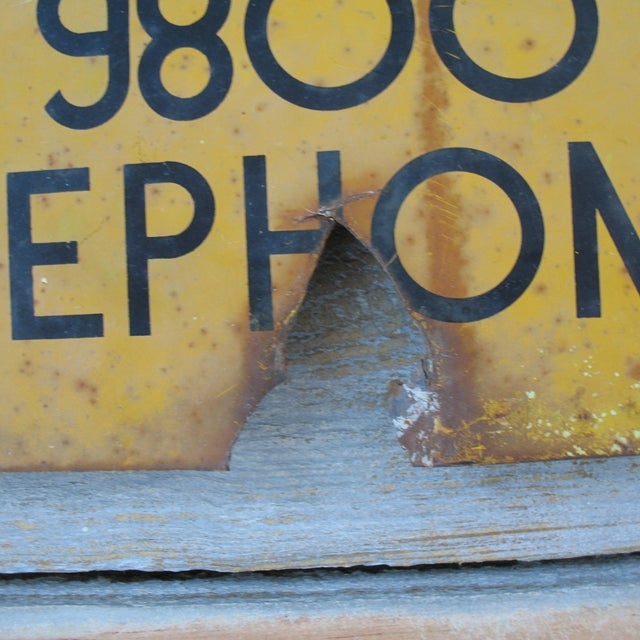 Vintage Bell Telephone Warning Sign - Image 5 of 5