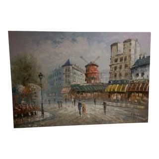 Parisian 'Moulin Rouge' Oil Painting