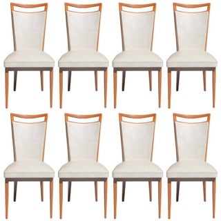 French Art Deco Dining Chairs - Set of 8