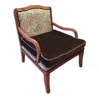 Chocolate & Paisley Club Chair