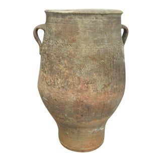 Antique Greek Pithos Terracotta Pottery Vessel