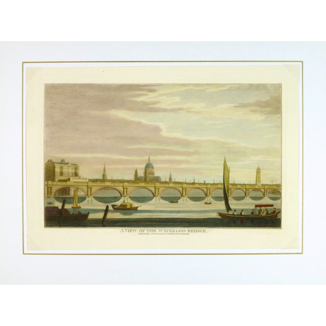 Image of Waterloo Bridge Print, London Engraving