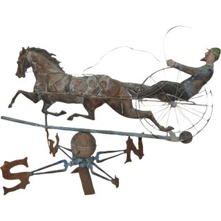 Late 19th Century Horse & Sulky Weathervane