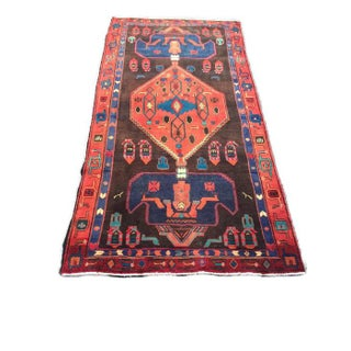 Vintage Persian Symbol Moroccan Style Bohemian Rug - 4′2″ × 8′8″