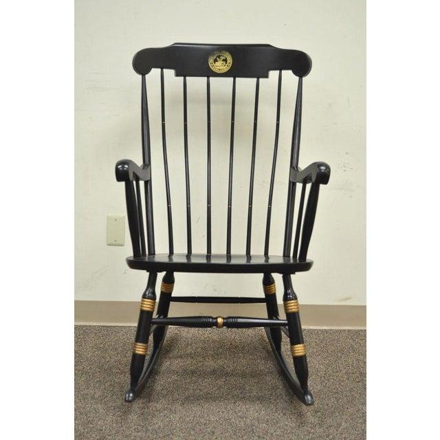 Vintage Sigill College University Nichols & Stone Windsor Rocking Chair - Image 2 of 11