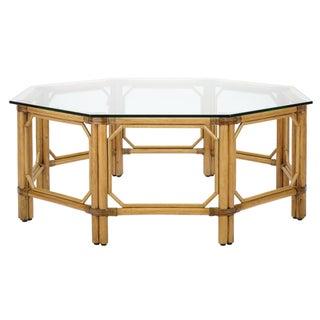 Selamat Designs Nutmeg Glass Regeant Octagon Coffee Table
