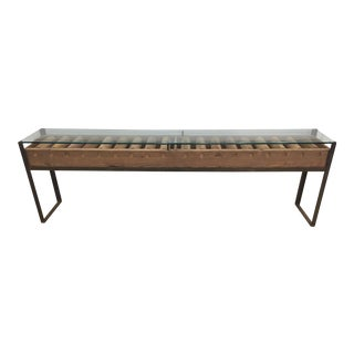 Cisco Home Glass Top Conveyor Belt Console Table