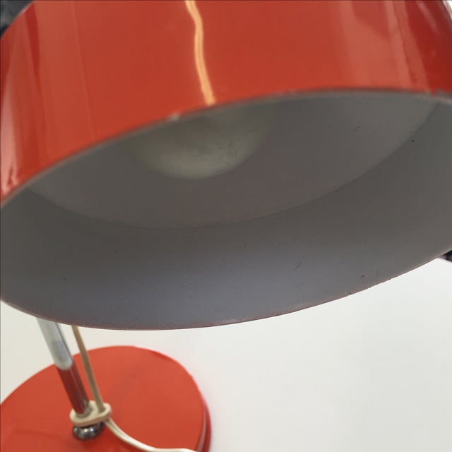 Image of Orange Mid-Century Modern Desk Lamp