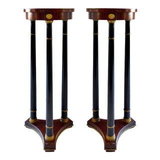 Fine Arts Furniture Grand Rapids French Empire Pedestals -a Pair