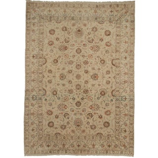 Hand Knotted Persian Kashan Rug - 9′1″ × 13′