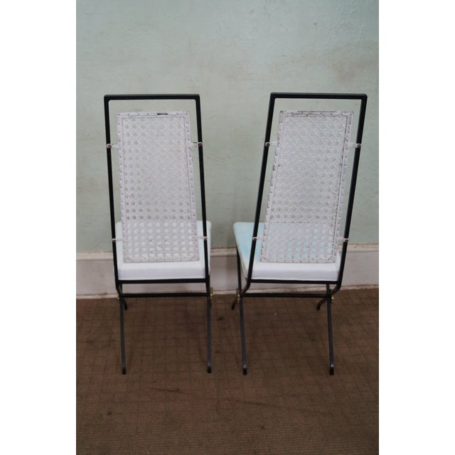 Vintage Hollywood Regency Directoire Dining Chairs - Image 4 of 10