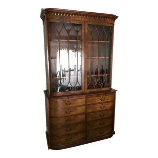 Vintage Beacon Hill Breakfront Mahagony Cabinet