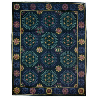 """Suzani, Hand Knotted Area Rug - 8'2"""" X 10'3"""""""