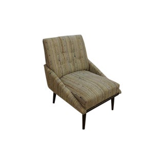 Mid-Century Modern Tweed Accent Chair