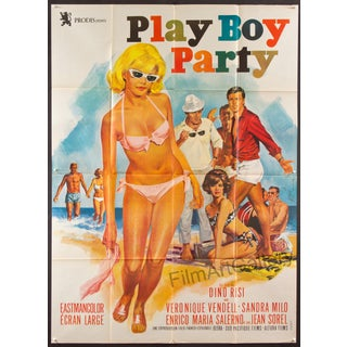 Vintage 'Play Boy Party' Large French Poster