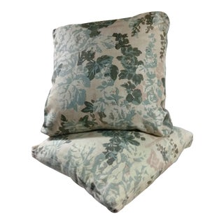 Custom Floral Pillows - A Pair