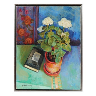 Geraniums Still Life Oil Painting