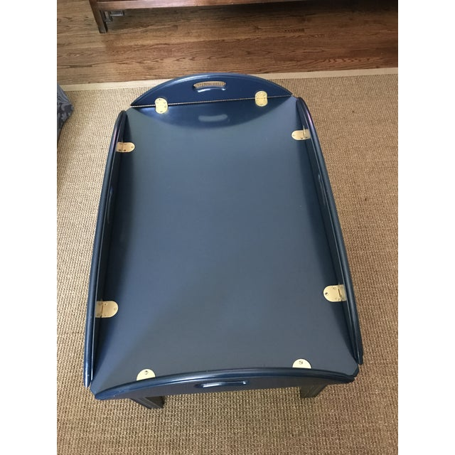 Lacquered Blue Ethan Allen Coffee Table - Image 5 of 5