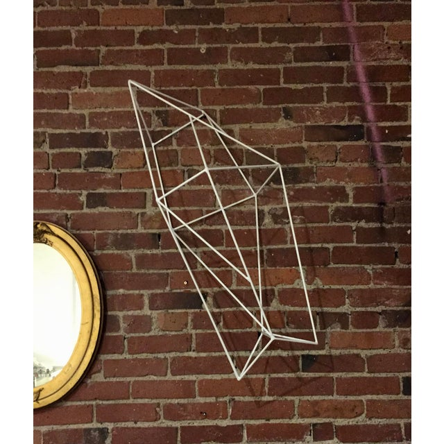 Minimalist Powder Coated Abstract Polyhedron Geometric Sculpture - Image 5 of 5
