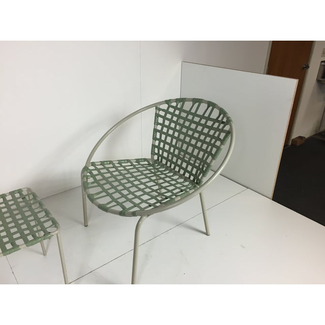 Mid-Century Green Hoop Chairs - A Pair - Image 5 of 8