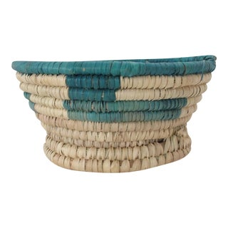 Turquoise Block Catchall Basket