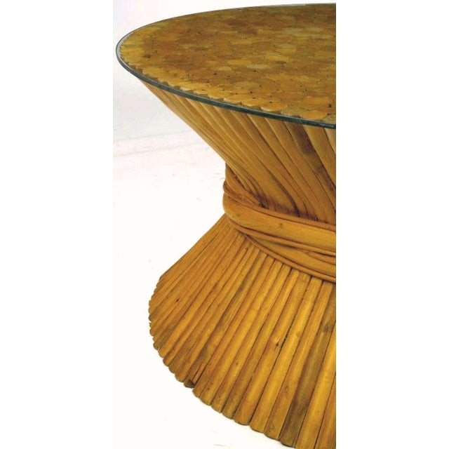 Sheaf Of Bamboo Coffee Table Attr McGuire - Image 3 of 7
