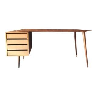 Custom Mid-Century Style Walnut Desk