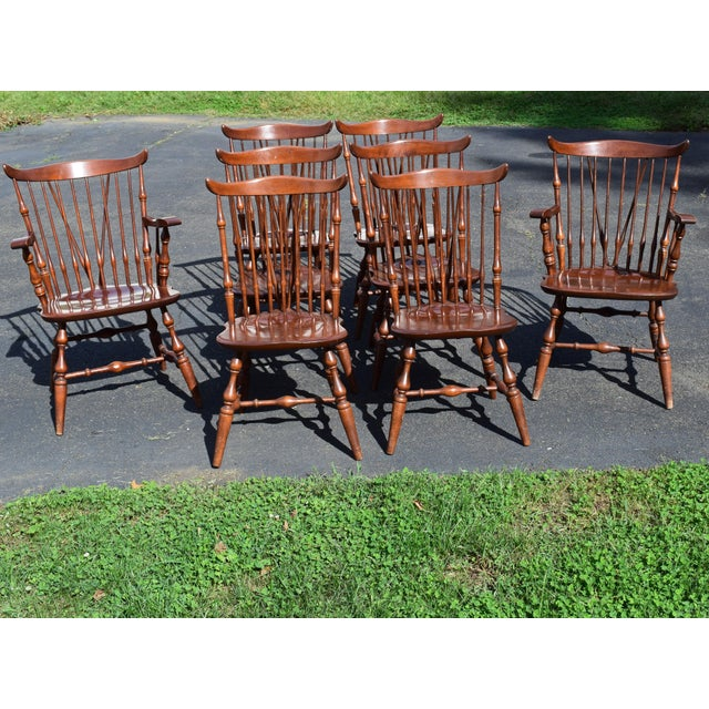 Vintage Windsor Nichols Stone Stickley Dining Chairs