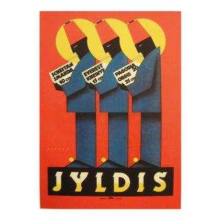 1920s Vintage Art Deco Mini Poster, Jyldis Cigarettes