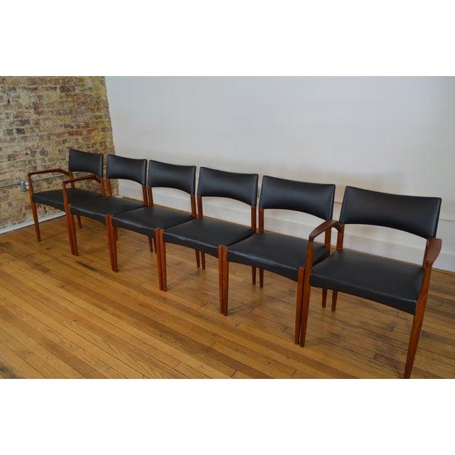 Ejner Larsen & Aksel Bender Madsen for Willy Beck Danish Teak Dining Chairs- Set of 6 - Image 2 of 7