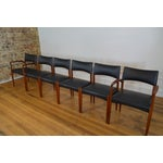 Image of Ejner Larsen & Aksel Bender Madsen for Willy Beck Danish Teak Dining Chairs- Set of 6