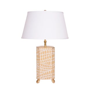 Taupe Crocodile Table Lamp