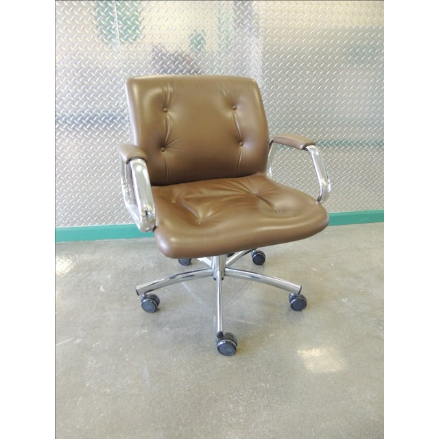 Steelcase Mid-Century Brown Office Chair - Image 2 of 3