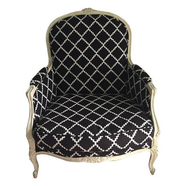 Vintage Bergere Chair in Lulu DK's Chant Fabric - Image 1 of 10