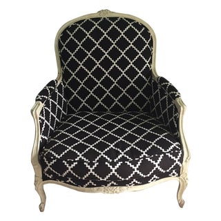 Vintage Bergere Chair in Lulu DK's Chant Fabric