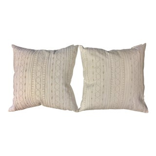 White Embroidered Ralph Lauren Pillows - A Pair