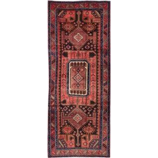 "Vintage Persian Zanjan Rug- 4'2"" x 10'7"""