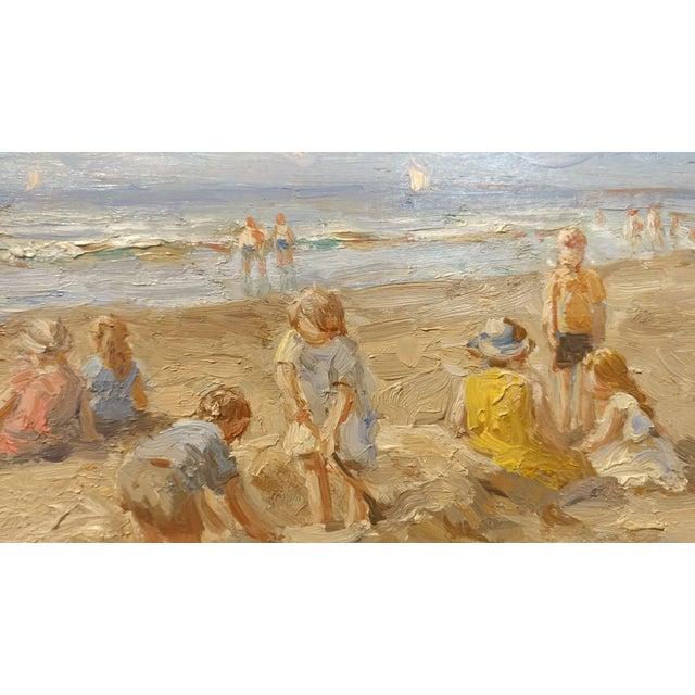 "Anton Karssen ""Children Day at the Beach"" Original Oil Painting - Image 4 of 10"