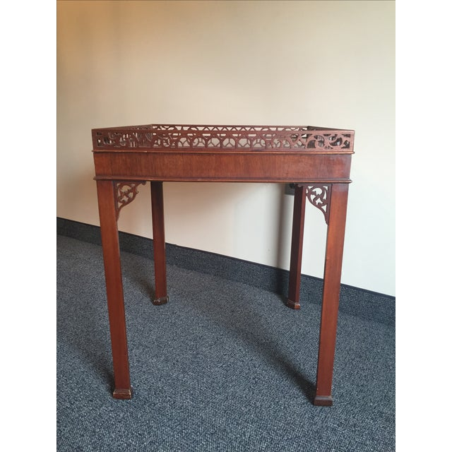 Chippendale-Style Wood Side Table - Image 3 of 7