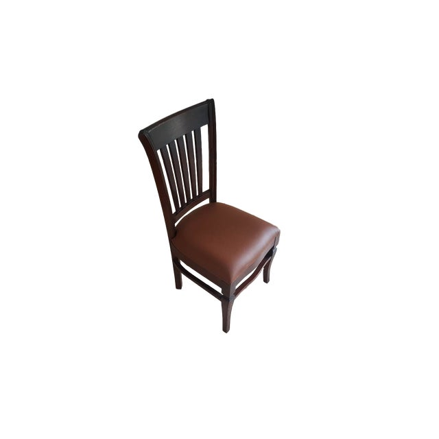 Image of Teak Wood Dining Chairs - Set of 6